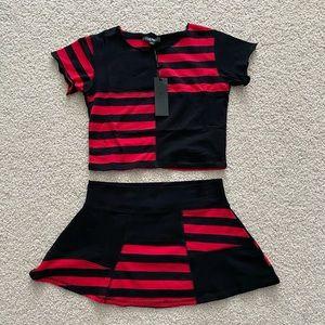 Widow two piece patchwork set